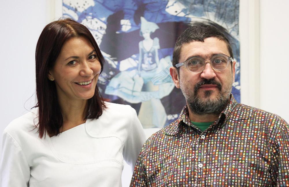 Doktorica Sanja Vuić i pacijent, umjetnik Bane Milenković