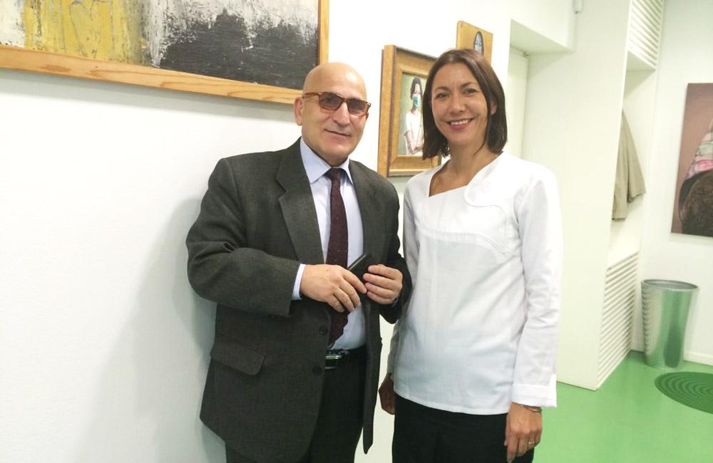 Doktorica Sanja Vuić i zadovoljni pacijent, diplomat Georgy Mirzoyan