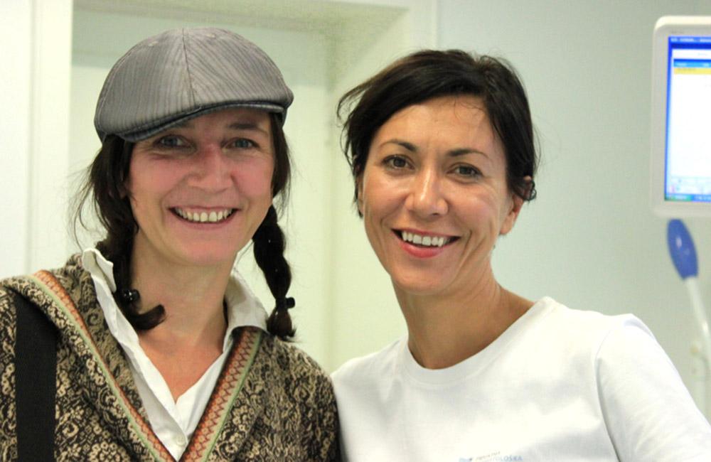 Doktorica Sanja Vuić i zadovoljna pacijentica, Lidija Šeler