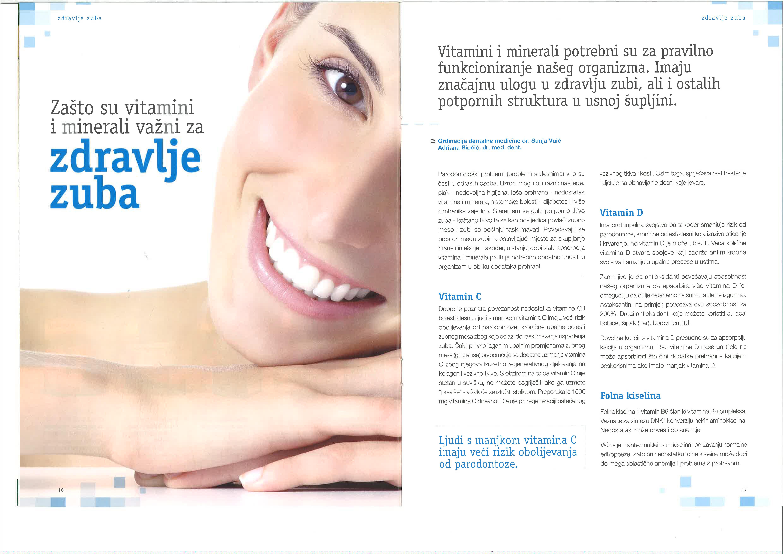 zdravlje zuba, vitamini za zube, savjeti, ordinacija sanja vuić, zagreb